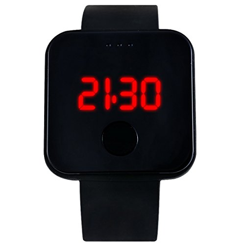 Loweryeah Silicone Watch Square Led Movement Digital Display Electronic Student Watch 25cm