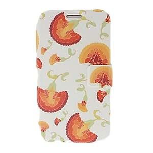 conseguir Cockscomb florece la caja del cuero del patrón con el soporte para Samsung Galaxy Note N7100 2