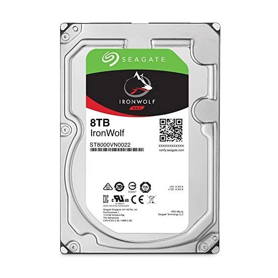 Seagate IronWolf 8Tb NAS Internal Hard Drive HDD 3.5 Inch SATA 6GB/S 256MB Cache for Raid Network Attached Storage…