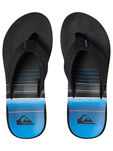 Quiksilver Men's Carver Print Beach and Pool Shoes Black/Black/Blue fGfL2zXg