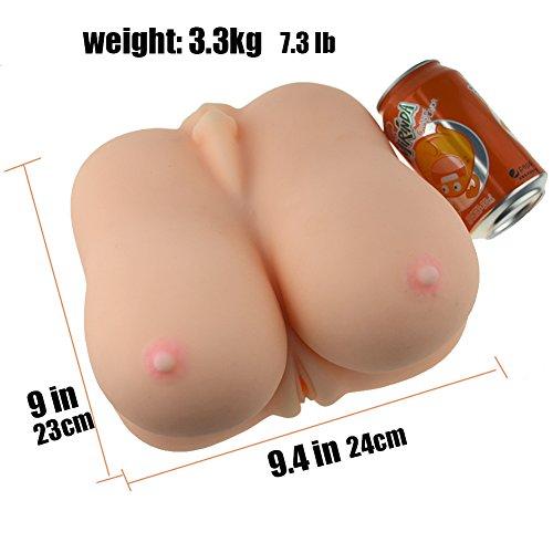 SHEQU Pussy Oral Male Masturbator with Big Boobs for Men - Realistic Silicone Big Breast Tight Vagina Blow Job for Men Masturbation 4.7Pounds (Sexy Tina) by SHEQU (Image #4)