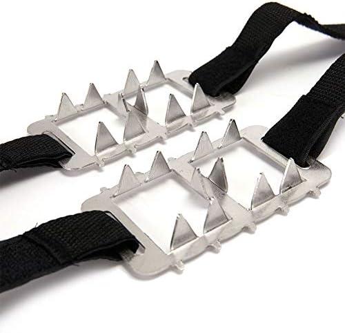 nobrand Einfach Slip On Männer Frauen Klettern Erwachsene Kinder Winter-Schlupf Traction Wanderschuh Greifer Spikes Steigeisen Klampen Universal-EIS-Schnee (Shoe Size : 2)