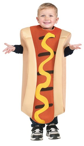 Fun World Unisex Hot Dog Toddler Costume, Multicolor, One Size (Cheap Halloween Costumes For Babies And Toddlers)