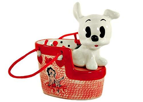 Betty Boop Pudgy Dog Handbag Salt & Pepper Shaker Set