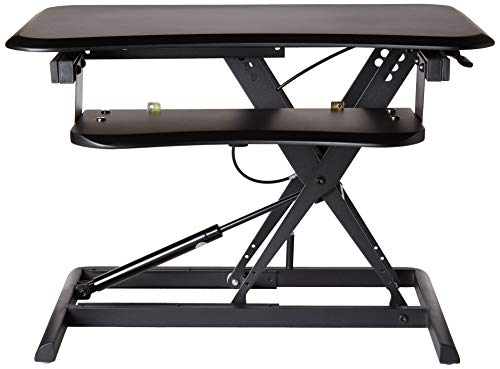 Standing Desk, Height Adjustable Sit-Stand Desk, Converter, Desktop Extension with Removable Keyboard Tray, Assembled & Easy Operation X-Lift, Straight Up & Down, 26