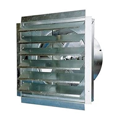 Heavy-Duty Exhaust Fan with Integrated Shutter - 36in., 9000 CFM, Model# IF36