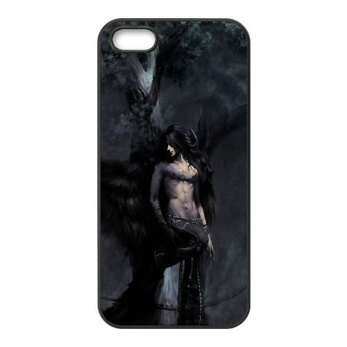 I7O01 Fantasy Art O8K3IX coque iPhone 4 téléphone cellulaire 4S de couverture de cas de coque noire FU4NCA3MI