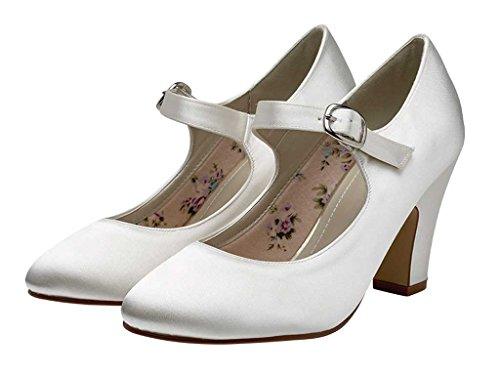 Jane Ivory Satin Madeline Rainbow Club Shoes Style Mary SPn7aatxwq