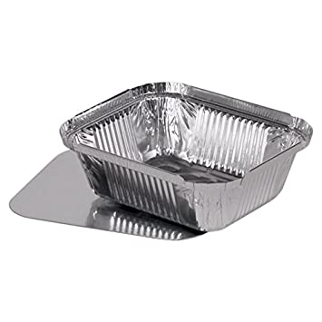 "100 bandejas de aluminio + tapa ""Madrid"" 430 ml ensaladera ensalada plato de"