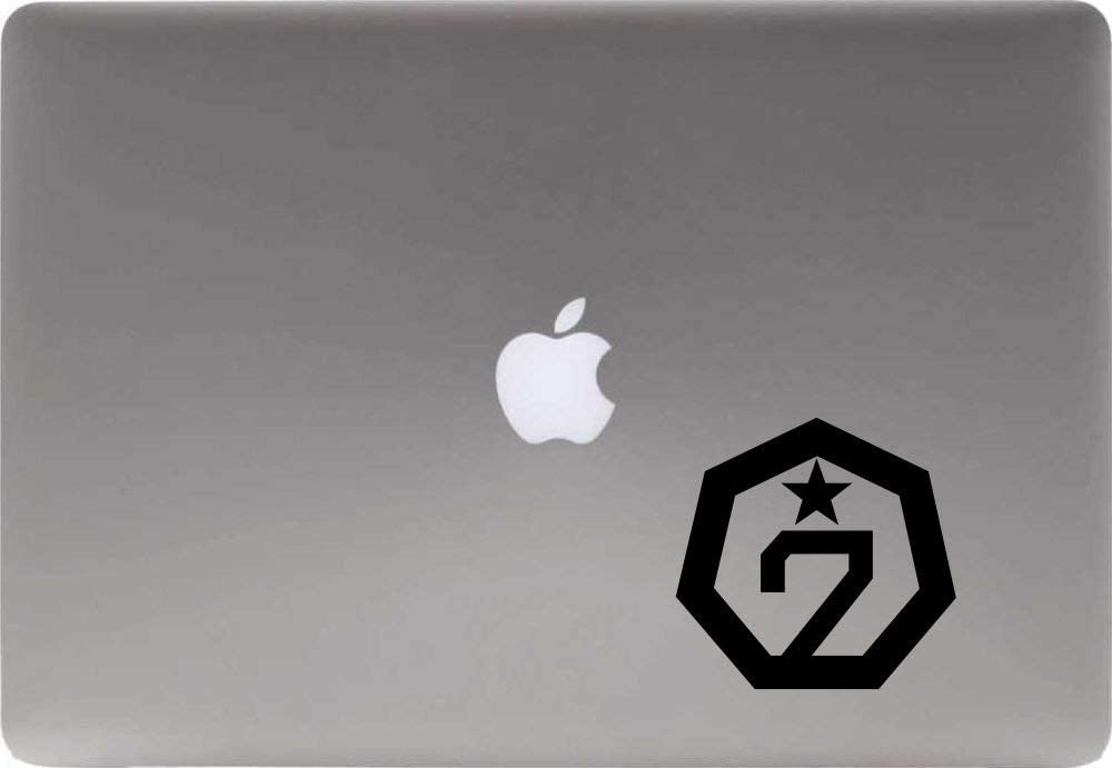 GOT7 Logo Vinyl Decal Sticker for Computer MacBook Laptop Ipad Electronics Home Window Custom Walls Cars Trucks Motorcycle Automobile and More (Black)