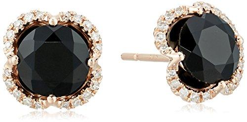 - Effy Womens 14K Rose Gold Black Agate Stud Earrings, One Size