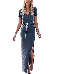 c6ad6e66b4db9 Twippo Women Sexy Cute Long Dress Maxi Summer Beach Casual Dresses 2019  Sundress