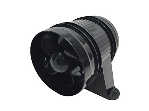 - Pactrade Marine High Performance ABS Turbo in Line Bilge Blower, 12V, Black