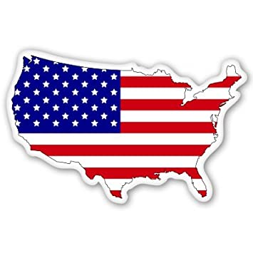 american flag map usa patriotic vinyl sticker select size