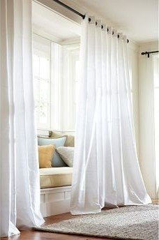 100% silk dupion lined Grommet curtain white ivory color 100