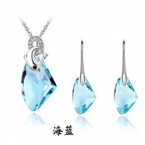 Autriche Parure Collier Boucles d'Oreilles en cristal–Dauphins lovly lms066