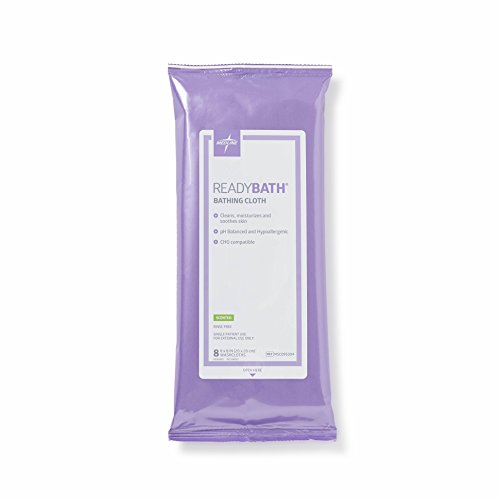 (Medline ReadyBath Scented Body Cleansing Cloths, Standard Weight Wipes (8 Count Pack, 30 Packs))