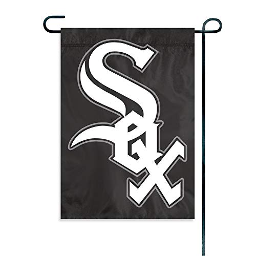 The Party Animal MLB Chicago White Sox MLB Garden Flag, Black, 18