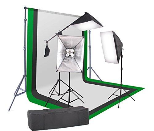 StudioFX 2400 Watt Softbox Continuous Photo Lighting Kit 16