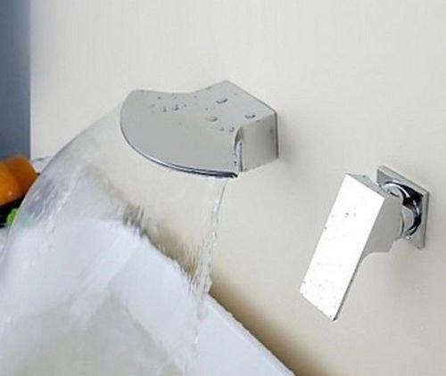 Single Handle Wall Mounted Bathroom Bathtub Basin Sink Mixer Faucet Tap Chrome .01-YT by Detroit Bathware - Wall Mounted Faucet