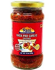 Rani Vada Pav Garlic Chutney Glass Jar, Ready to eat 10.5oz (300g) Vegan ~ Gluten Free | Non-GMO | Indian Origin