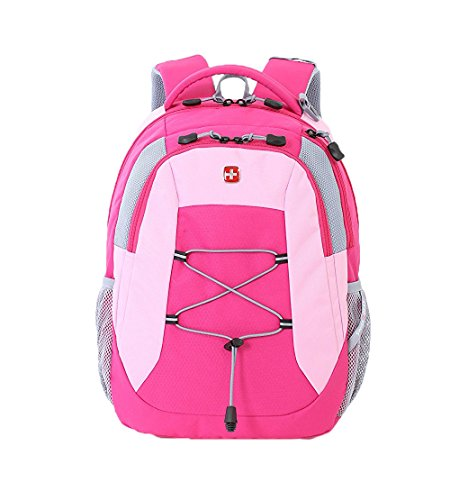 Swiss Gear SA5933 Laptop Computer Tablet Notebook Backpack - for School, Travel, Carry On Luggage, Women, Men, Student, Professional Use - Pink, 19 Inches