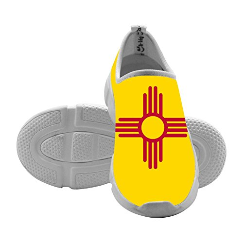 US Flag of New Mexico Kids Casual Sneakers Slip-On Loafers Original Elastic Shoes