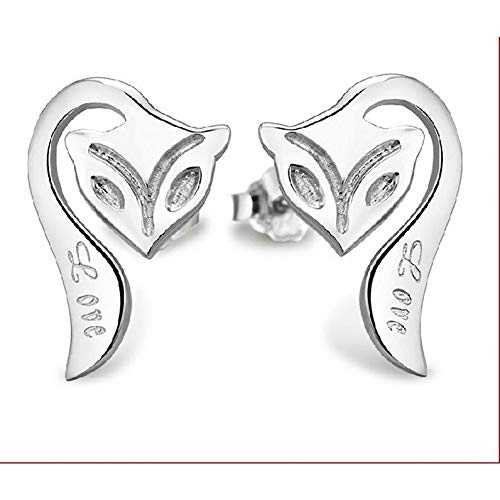 JSGJZB Earring 2 Pairs of Earrings Platinum-Plated Earrings Jewelry Korean Firefox Earrings Plated with Platinum and ()