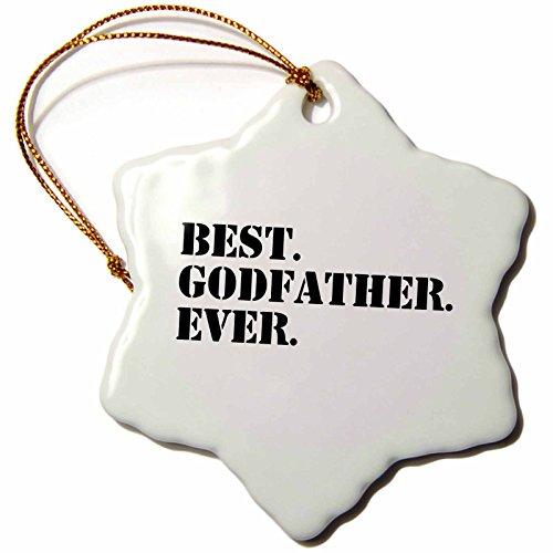 3dRose orn 151497 1 Porcelain Ever Gifts Dads Godparents Black