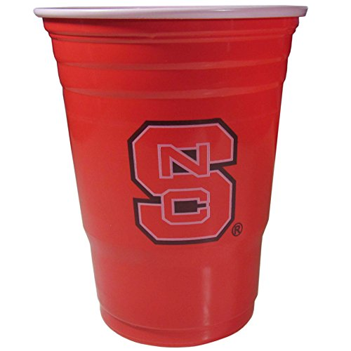 NCAA Siskiyou Sports North Carolina State Wolfpack Plastic Game Day Cups, 18 Count, (18 oz) Team Color