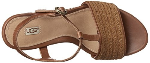 Australia UGG Brown Wedge Sandals Women's Fitchie FpwqpR4
