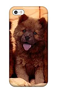 Rugged Skin Case Cover For Iphone 5/5s- Eco-friendly Packaging(chow Chow Dog )