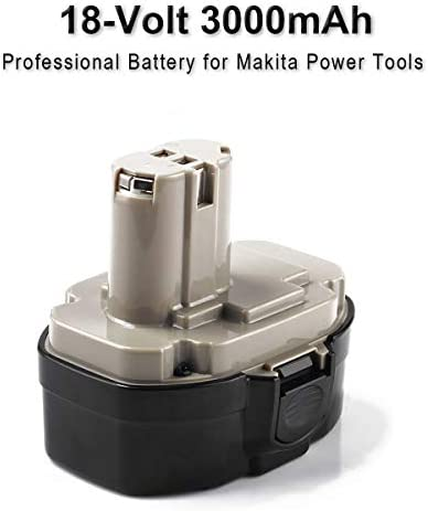 Vanttech 2 pieces 1822 battery for Makita 18V 3.0Ah Ni-MH replacement battery for Makita PA18 1822 1823 1834 1835 192826-5 192827-3 192829-9 193159-1 193140-2 193102-0 194105-7
