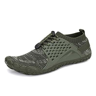 Oberm Men's Trail Running Shoes Minimalist Wide Toe Box Barefoot Trainers Water Shoes Size: 7.5 Women/6.5 Men