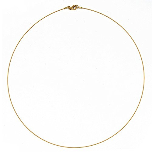 14k Yellow Gold 0.5mm Twist Cable Wire Chain Necklace - 18 Inch