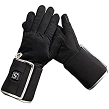Savior Heated Gloves liner with Rechargeable Li-ion Battery Heated for Men and Women, Warm Gloves for Hiking Skiing Mountaineering , Works up to 2.5-6 hours …