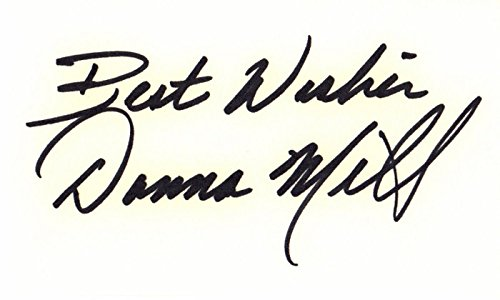 - Donna Mills Signed - Autographed 3x5 inch Index Card - Knots Landing Actress