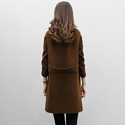 long pour femme laine En d Trench Manteau d5ORqxdw