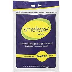 SMELLEZE Natural Animal Waste Smell Deodorizer Granules: 25 lb. Bag Treat Manure at a Rate 10-25 Volume