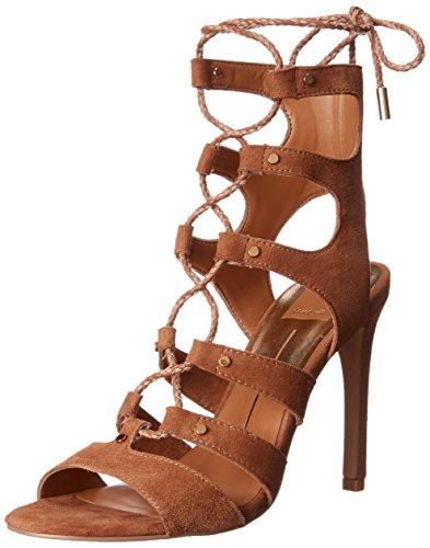 Dolce Vita Women's Howie Gladiator Sandal, Dark Saddle, 6 M US