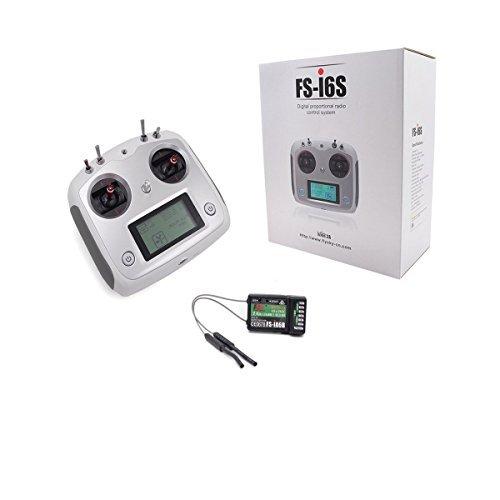 (Flysky FS-I6S 10ch 2.4G AFHDS 2A RC Transmitter Control w/ FS-iA6B Receiver For RC Drone Quadcopter)