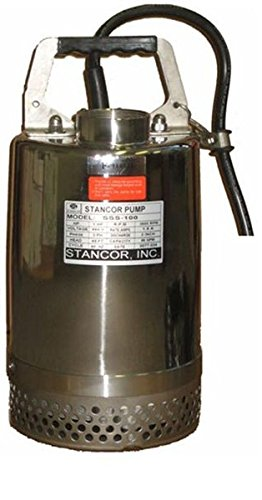 STANCOR-SSS-1001151-Avenger-Series-Submersible-304-Stainless-Steel-Dewatering-Center-Line-Pump-Model-115V-1-Phase-1-Hp-2-Discharge-50-Cable