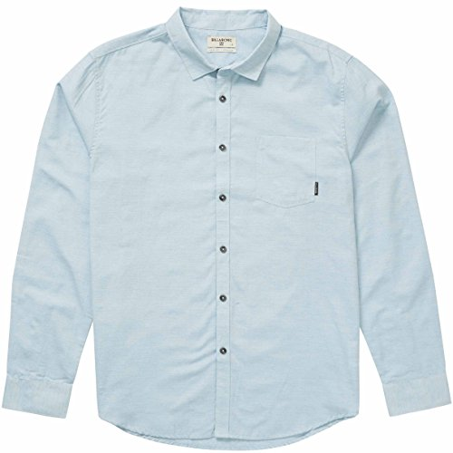 (Billabong Men's All Day Helix Long Sleeve Shirt, Powder Blue, 2XL)