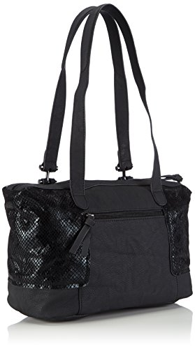 Piel Shoulder Bolso Tamaris Negro Bag Sintética Mujer De Lina Hombro WTqqPABn6