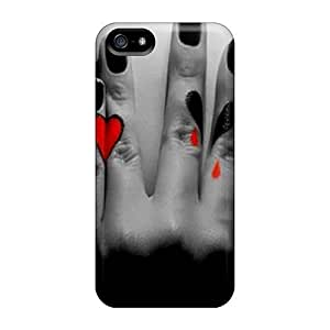 DaMMeke Iphone 5/5s Hybrid Tpu Case Cover Silicon Bumper Heart