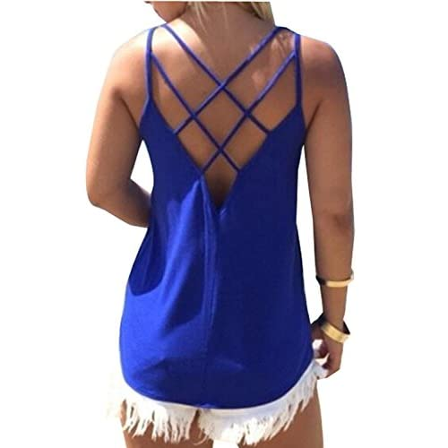 cf570cc45a0a5 Top Tops for Women Trendy Tank Top Crisscross Backless Shirts Loose  Camisole Top 30%OFF