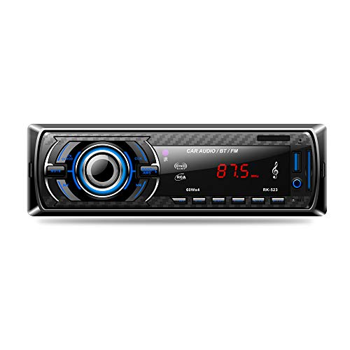 LSLYA Car Stereo Audio Receiver FM Radio MP3 Player with Bluetooth USB/SD/AUX/MMC Single Din in-Dash with Remote Control by LSLYA