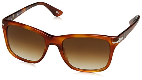 Persol  Men's 0PO3135S Terra Di Sienna/Clear Gradient Brown - Sunglasses In Italy Persol Made