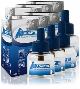 6 PACK ADAPTIL (D.A.P.) Dog Appeasing Pheromone REFILL (288mL) by DAP