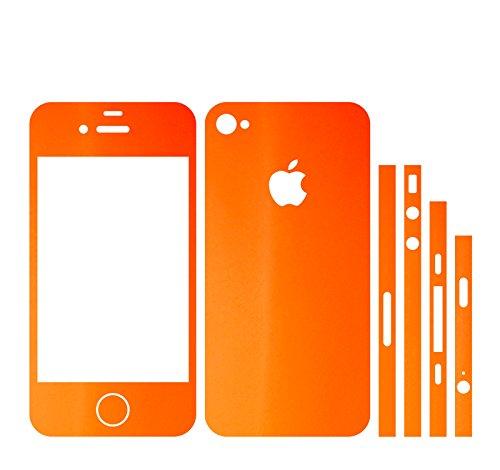 IPHONE 4S ORANGE MATT FOLIE SKIN ZUM AUFKLEBEN bumper case cover schutzhülle i phone